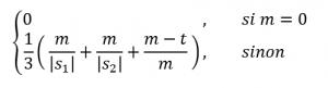Formule mathématique de la distance Jaro